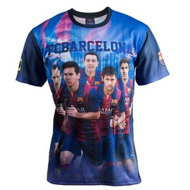 Maillot Bar�a - Neymar Messi Suarez Xavi Iniesta - Collection Officielle Fc Barcelone - Taille Enfant Gar�on