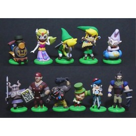 Zelda Spirit Tracks ☆ Lot 11 Figurines Entre 4 � 5 Cm ☆ Link Wii U Ds 3