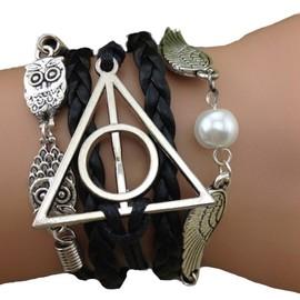 Bracelet Harry Potter Infini Ailes Anges Infinity Multibrins