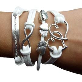 Bracelet Saint Valentin Infini Infinity Fashion Tendance C�Ur Karma