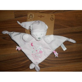Doudou Ours Rose Plat Carr� Max & Sax Peluche B�b� Ours Oursonne Max And Sax