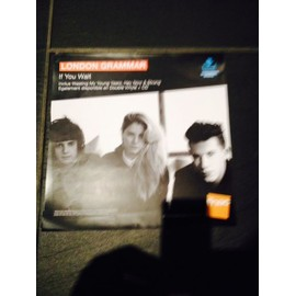 "LONDON GRAMMAR PLV "" If you wait"" Format 33 TOURS papier epais 2014"