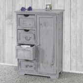 Commode / Armoire, 82x55x30cm, Shabby Chic, Vintage Gris