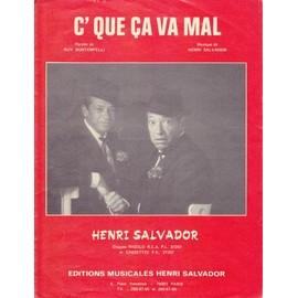 henri salvador / C QUE CA VA MAL