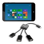 kwmobile� 3en1 Micro-USB USB 2.0 Adaptateur pour HP Stream 7 kit de connexion c�ble