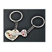 Porte Cles Love Cl�s Clefs Coeur Cadeau Keychain Hearth Love Duo Amour