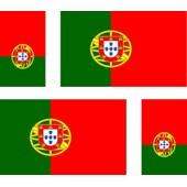 4 X Autocollant Sticker Voiture Moto Valise Pc Portable Drapeau Portugal Portuga