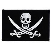 Patch �cusson Brod� Drapeau Pirate Jack Rackham Tete De Mort Thermocollant