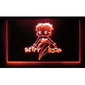 Verre Publicitaire N�on Rouge Betty Boop Pin Up Sexy Deco Americaine Bar Diner Loft Usa Neuf