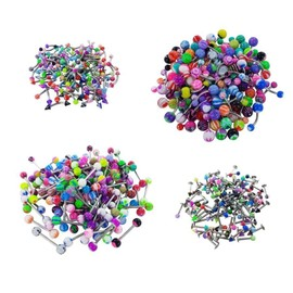 Lot Revendeur Grossiste 100 Piercing Mix Nombril Arcade Langue Labret