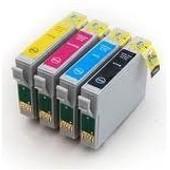 Pack Cartouches D'encre Compatibles T0441,T0442,T0443,T0444 Pour Imprimante Epson Stylus C 64 Stylus Cx 6400 Stylus Cx 3650 Stylus Cx 3600 - Cyan / Jaune / Magenta / Noir