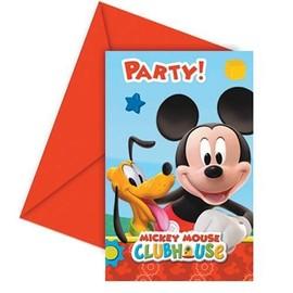 Carton D'invitation Mickey Disney� - Taille Unique