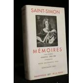 M�moires Tome 2 : Ann�es 1702 - 1708 de SAINT-SIMON Claude Henri de Rouvroy, Comte de