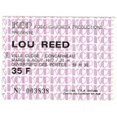 Ticket Billet Concert Lou Reed 9 Aout 1977 Concarneau France
