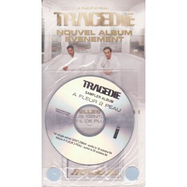 TRAGEDIE PLV Borne d'écoute disquaires A FLEUR DE PEAU + CD Single