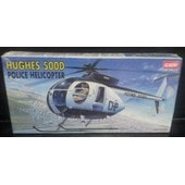 Hugus 500d Police Helicopter-(Limited �dition Maquette Helicopter)(1/48)(Academy)(Korea).
