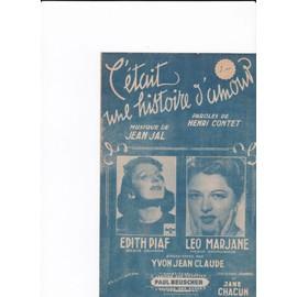 C'était une histoire d'amour (Edith Piaf)