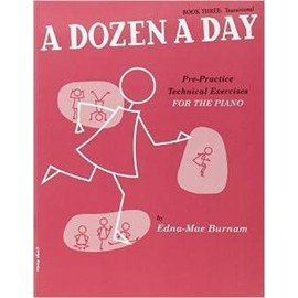 A Dozen a Day Volume 3 (Rouge) - Piano [Broché] by Burnam