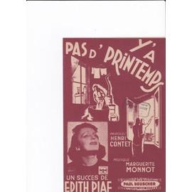 Pas d'printemps (Edith Piaf)