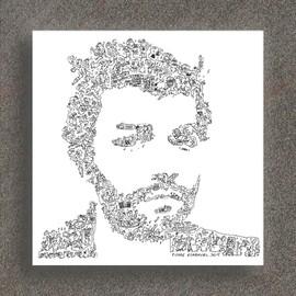 Muse- Chris Wolstenholme - Portrait biographique - Edition Limitée de 100 prints  - 20 X 20CM