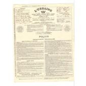 Assurances L�Urbaine Agence De Saumur Police D�Assurances De 1929