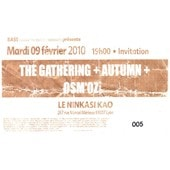 Ticket Concert The Gathering Lyon 2010