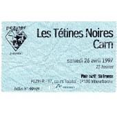 Ticket Concert Les T�tines Noires � Lyon 1997