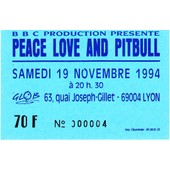 Ticket Concert Peace Love And Pitbull Lyon 1994