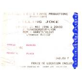 Ticket Concert Killing Joke � Lyon En 1996