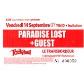 Ticket Concert Paradise Lost � Lyon En 2007