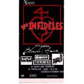 Ticket Concert Les Infid�les + Blonde Amer � Lyon En 1994