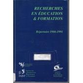 Recherches En �ducation & Formation - R�pertoire - de Marie-Evelyne Bourgeois/ Philippe Champy