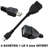 C�ble OTG adaptateur micro USB m�le � femelle pour t�l�phone mobile