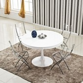 Table Ronde Extensible Angie Blanc