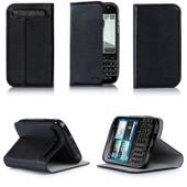 Etui Luxe Blackberry Classic Ultra Slim Noir Cuir Style Avec Stand - Housse Coque De Protection Pour Blackberry Classic Q20 2015 - Accessoires Pochette : Exceptional Case !
