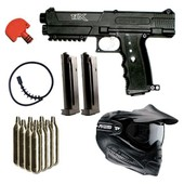 Pack Lanceur Paintball Tippmann Tpx V2 Noir + 10co2 + Masque + Squeegee