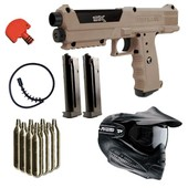 Pack Lanceur Paintball Tippmann Tpx V2 Desert Tan + 10co2 + Masque + Squeegee