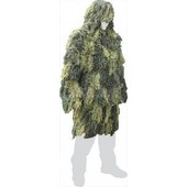 Ghillie Parka Camo Woodland Polyester Tenue De Camouflage Anti Feu Ignifuge Miltec 11962120 Wl Taille M/L Airsoft