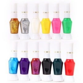Occasion, Lot 12 Vernis A ongles deco nail tip gel 2 usage dotting pinceau liner stylo