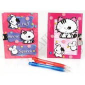 Carnet Secret Journal Intime Enfant Fermeture + Stylo