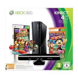 Image Console Xbox 360 4 Go + Kinect + Kinect Adventures ! + Carnival + Carte Abonnement 3 Mois Gold