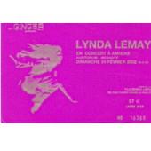 Ancien Billet De Concert Lynda Lemay � Amiens Le 24 F�vrier 2002