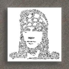 Guns n roses - Axl Rose - Portrait biographique - Edition Limitée de 100 prints - 20x 20cm sur papier 190gsm