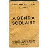 Agenda Scolaire Petit Carnet 1938-1939 3e Trimestre- Rempli