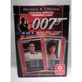 Jeu De 52 Cartes 4 En 1 James Bond - 50�me Anniversaire - Heroes & Villains -