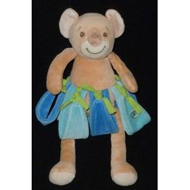 Doudou Koala Takinou Hawai Bleu Vert Beige
