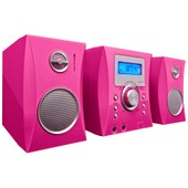Micro-cha�ne Bigben MCD04 rose + autocollants - CD, Radio FM