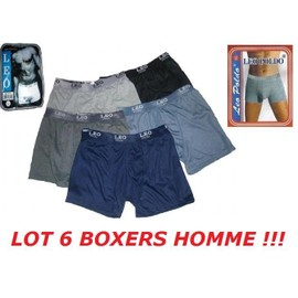 Lot 6 Boxers Homme Taille M Ou 3 / L Ou 4 / Xl Ou 5 / Xxl Ou 6 / Cale�on Shorty 100% Coton Neuf