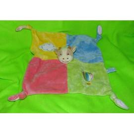 Vache Cow Doudou Comforter Plat Vaca Kuh Plush Gipsy Rose Jaune Bleu Vert Mongolfi�re Nuage