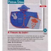 Patron Couture D�coration Modes Et Travaux N� 385617 : � L'heure Du Bain : Ensemble De Bain En �ponge Pour B�b� De 12 � 24 Mois